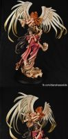 Belldandy and Holybell painted by dianahase by dianahase