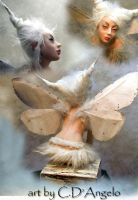 Moth Fairy Back View by cdlitestudio