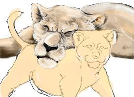 lions wip by TigrisAlbo