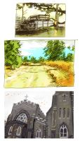 Landscape Drawings by ehwhy