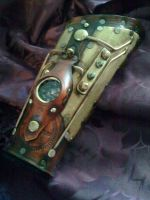 Steampunk navigator's bracer the 2nd by Skinz-N-Hydez