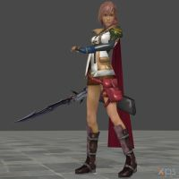 Final Fantasy XIII - Lightning (Battle Pose) by SilverMoonCrystal