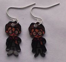Kawaii Harry Potter earrings by Lovelyruthie