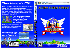 Sonic M.U.G.E.N DVD cover by Dante909