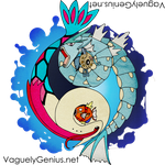Aquatic Yin Yang - Milotic and Gyarados! by vaguelygenius