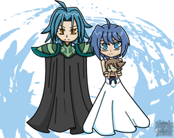 Gaillard and Aichi Cosplay by aprict
