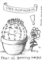 Sketchbook Project EXTRA - obesophobia by dreamsaddict