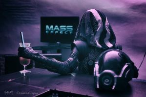 Tali'Zorah cosplay - Mass Effect inception by Cinnamon-Cosplay
