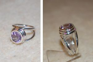 Amethyst and pink sapphires ring by Gomthir