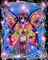 Butterfly girl colored by fragileyokai