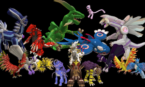 Legendary Spore Pokemon by Darkaus