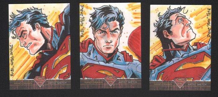 SUPERMAN: THE LEGEND NEW 52 AP sketch cards by POPSTATA