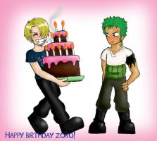 Happy birthday Zoro by Popcorni