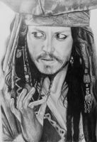 Johnny Depp as Jack Sparrow by analuinog