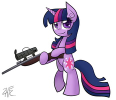 Sniper Sparkle by wildberry-poptart