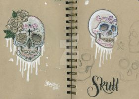 Sugar Skulls by 12KathyLees12