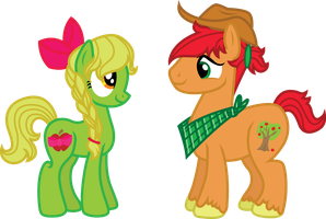Applejack's Parents by InkRose98