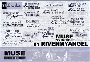 Muse Text Brushes - set 9 by RandyStoleMyKeys