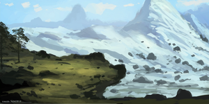 Mountainscape (Commission) by ehecod
