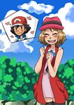 Amourshipping-Hes so cuuuute! by QueenPoro