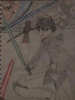 Kirito in Star Wars The Old Republic by Caharvey