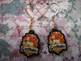 Gryffindor Earrings by AriesNamarie