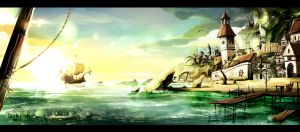 AKANY ISLAND concept art 3d by Tan-staR