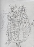 Trymdamere and Nami by GiftedLion