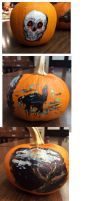 Painted Pumpkins by wh1t3-t19Lightning