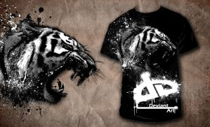 tiger deviantart shirt by JJR8989