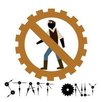 Steampunk signs - Staff Only by Magic92