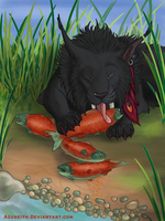Salmon Dinner by Azureith