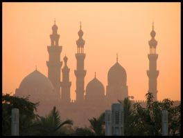islamic sky line by bassemhany
