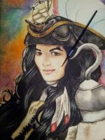 WIP Portrait of Fem Captain Hook by LadyduLac