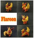 Flareon Sculpture: Collage by ClayPita