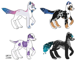 More Starry Canine Adopts- Ota :o/4 Closed!!: by Deviadopts