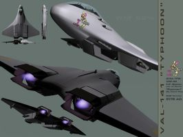WIP Typhoon fighter spec sheet by Mechis