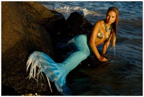 Mermaid on the rocks 5 by wildplaces