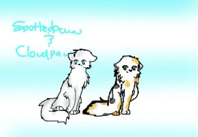 Spottedpaw and Cloudpaw by Spottedfire1212