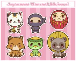 Japanese Themed Stickers by karnalux