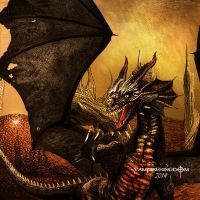 Smaug and the Arkenstone by vampirekingdom