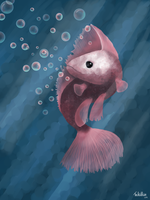 Pink Fish by TheAcidRain
