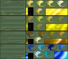 Pern Color Chart Gold-blue WIP by Senaru