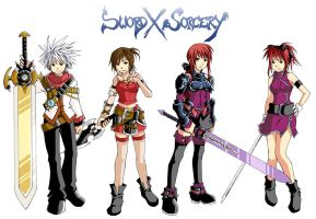 Sword X Sorcery characters by Raynart-Tradnor