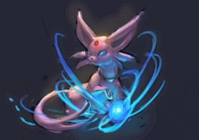 Pokemon : Espeon speed paint by Sa-Dui