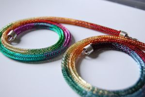 Viking Knit Rainbow Chains by Freak7109