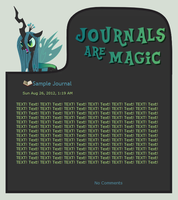 Journals Are Magic - Queen Chrysalis by CassidyCreations