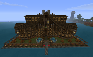 Minecraft Log Mansion by CW390