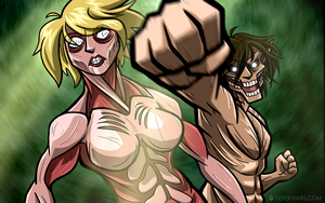 Attack on (Female) Titan by Pokii-kun