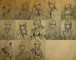Original character designs by zzingne